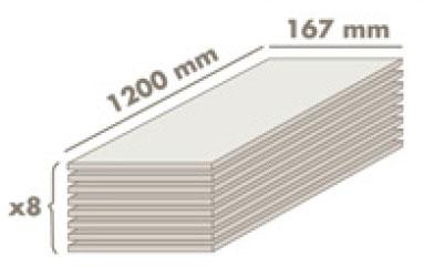 Размеры водостойкого ламината АкваСтеп
